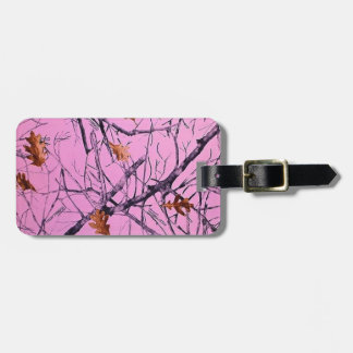 Pink Camo Tag For Luggage