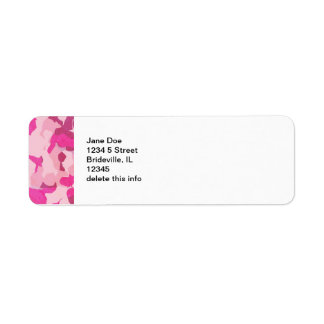 Pink Camo Mailing Label Sheets