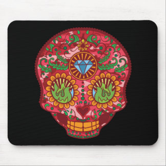 Pink Camo Mexican Day Of The Dead Sugar Skull Mouse Pad