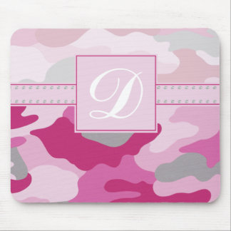 Pink Camo Monogram Mouse Pad