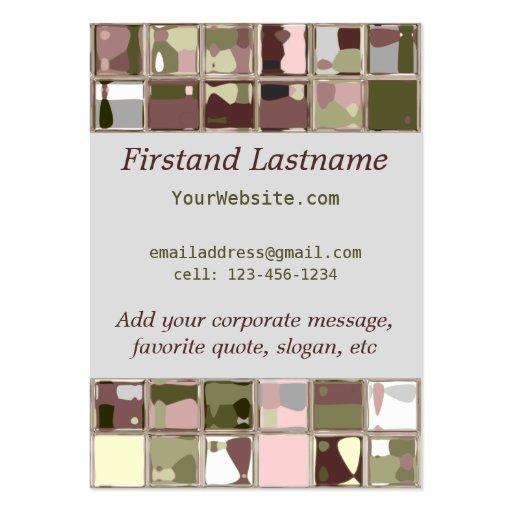 Camo business card templates page3 bizcardstudio pink camo nature tile art custom business cards colourmoves