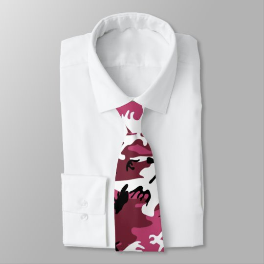 Pink Camo Neck Tie