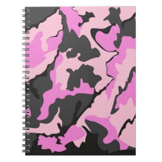 Pink Camo, Notebook (80 Pages B&W)