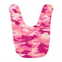 Pink Camo Pattern Baby Bib