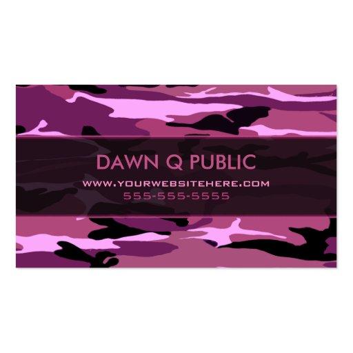 Pink camo business card templates bizcardstudio pink camo pattern business card colourmoves