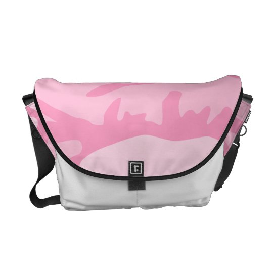 Pink Camo Pattern Courier Bag