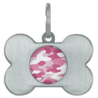 Pink Camo Pet Tag