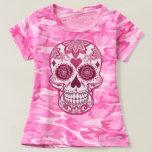 Pink camo & Pink sugar skull T-shirt