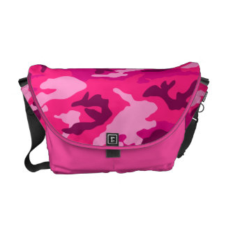pink camo print camouflage army pattern military courier bag