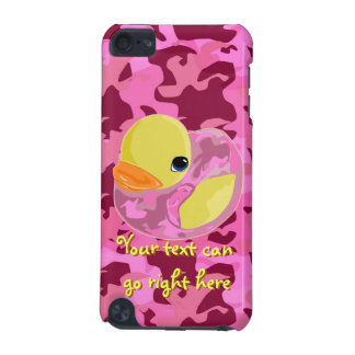 Pink Camo Rubber Ducky iPod Case