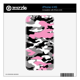 Pink Camo Skin For iPhone 4S