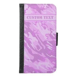 Pink Camo Smartphone Wallet w/ Text