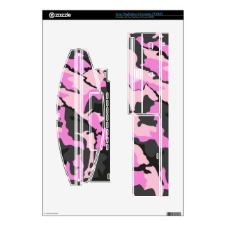 Pink Camo, Sony PlayStation 3 Console Skins PS3 Console Decal