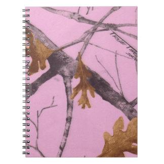 Pink Camo Spiral Notebook