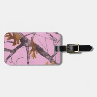 Pink Camo Tags For Luggage