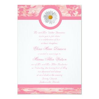 Pink Camo Wedding Invitation