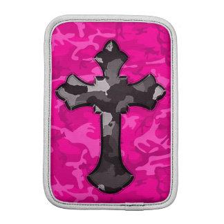 Pink Camo with Cross Sleeve For iPad Mini