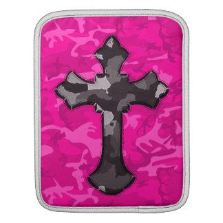 Pink Camo with Cross Sleeve For iPads