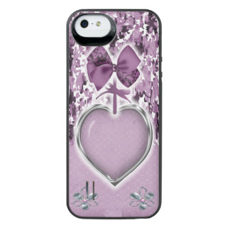 Pink camo with heart iPhone 5/5s battery case Uncommon Power Gallery™ iPhone 5 Battery Case