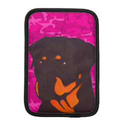 Pink Camo with Rottweiler Sleeve For iPad Mini