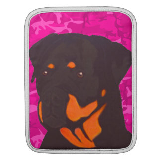 Pink Camo with Rottweiler Sleeve For iPads