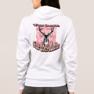 Pink Camo Women Woman Hoodie Deer Buck Hunting