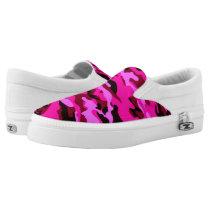 Pink Camo Women's Zipz Shoes