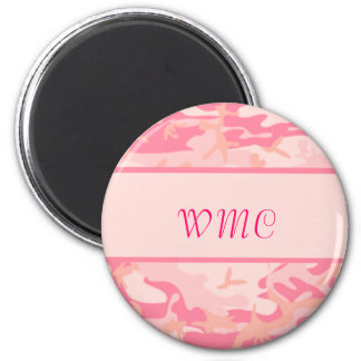 Pink Camoflage Magnet