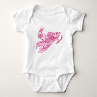 Pink Camoflage Snowmobiler Baby Bodysuit