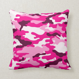 Pink camouflage American MoJo Pillow