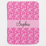 Pink Camouflage Baby Blanket