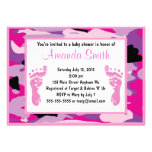 Pink Camouflage Baby Shower Invitations