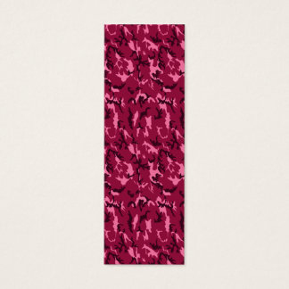 Pink Camouflage Bookmark Mini Business Card