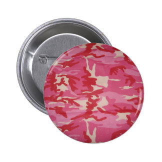 Pink Camouflage Pinback Buttons
