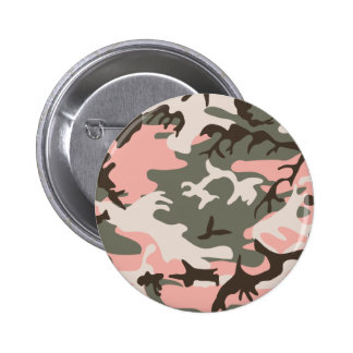 Pink Camouflage Button