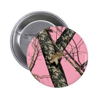 Pink Camouflage 2 Inch Round Button