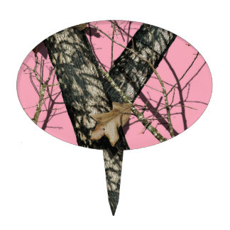 Pink Camouflage Cake Topper