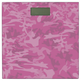 Pink Camouflage / Camo Bathroom Scale