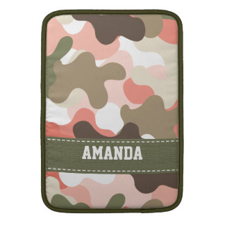Pink Camouflage Camo Macbook Air Sleeve 13 and 11