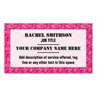 Pink Camouflage Camo Pattern Business Card