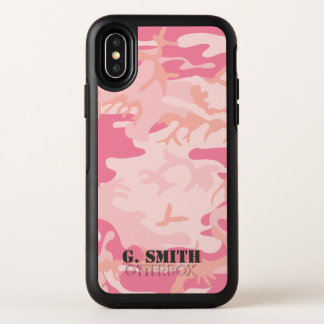 Pink Camouflage. Camo your OtterBox Symmetry iPhone X Case
