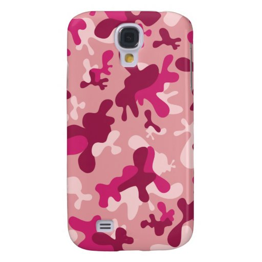 Pink Camouflage Galaxy S4 Case