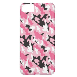 Pink Camouflage Cover For iPhone 5C