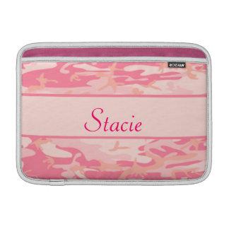 Pink Camouflage  Cusom Monogram or Name MacBook Air Sleeve