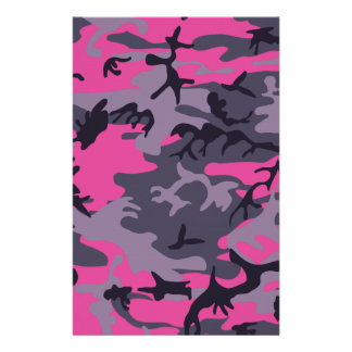 Pink camouflage design stationery