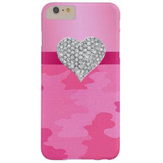 Pink Camouflage Diamond Heart iPhone 6 Case