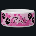 "Pink Camouflage Dog Bowl<br><div class=""desc"">Pink Camouflage Dog Bowl</div>"