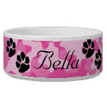 Pink Camouflage Dog Bowl<br><div class='desc'>Pink Camouflage Dog Bowl</div>