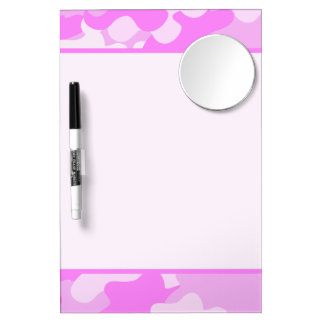 Pink Camouflage Dry-Erase Whiteboards