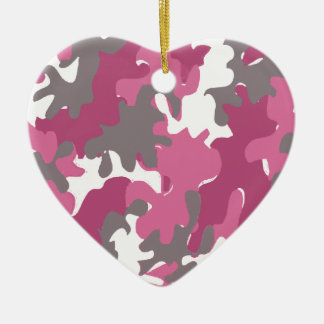 pink camouflage for the strong military woman ceramic ornament